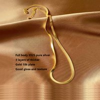 Newest classical flat snake bone chains unisex bathing non-fading thicker 18k titanium steel necklaces top-quality wholesale