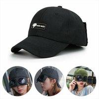 1 ADET Aviator Şapka Yaz Kişilik Gözlük Beyzbol Kap Kadın Unisex Güneş Gözlüğü Erkek BeyzbolCap Boys