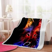 Blankets Irisbell Colorful Animal Print Blanket Home Bedroom Decoration Suqare Throw Quilt Outdoor Camping Sherpa Fleece