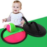 1 conjunto de lançamento de plástico e brinquedos de bola set kids palm pegajoso brinquedos bola pegajoso conjunto ao ar livre pai-filho interativo esporte bebê brinquedo