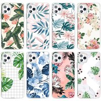 I-phone 13 Mini Pro Max Phone Cases For Iphone 13mini 13pro 13promax 12promax 12 12mini 11promax 11 Mobile Cell Case Tropical Plant Leaves Small Floral