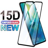 LX Marca 15D vidro protetor para Huawei Mate 9 10 20 30 Lite Mate10 Pro Protetor de tela em Huawei P30 Lite P Smart 2018 2019 filme de vidro