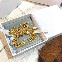 مصمم أزياء فاخرة قلادة D jiadijia نمط خطاب CD، الذهب سلسلة سميكة، سوار الرقبة