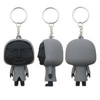 Squid Game Fidget Toy Keychain Korea Mask Black Man Key ring PVC Soft Glue Pendant