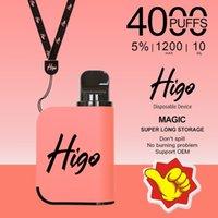 Mesh Coil 4000puffs Higo-Magic Electronic Cigarette Disposable Vape 1200mAh Battery 10ml E-liquid Pods With Wholesale Price