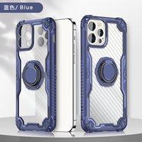 Carbono FiBBER Airbag Airbag Improperte Acrílico TPU Grip Capas Para Iphone 13 12 11 Pro Max Xs XR 6S 7G 8 Plus Samsung A02S A12 A22 A32 A52 A72 A82