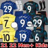CFC 20 21 22 Chelsea futebol jerseys azul home giroud abraham werner havertz chilwell ziyech zouma camisa futebol camiseta kante monte 2021 2022 homens + kit kit jorrgyho