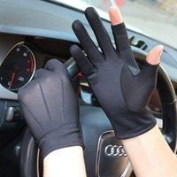 Verão primavera verão concorrência eletrônica mão meias respirável índice dedo luvas dedo suor absorção