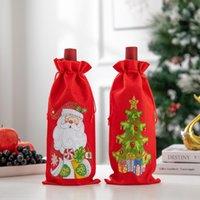 Diamond Painting Christmas Wine Bottle Cover DIY GIft Santa Claus Drawstring Bag Kits Christmas Decorations LLB11241