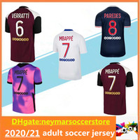 2020/21 Jersey de futebol 2020 2021 camisas de futebol mbappe icardi Survection Maillot de pé camisas de futebol