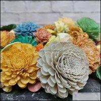 عطور ديكور Home Garden200pcs Sola Wood Goverortment، الزهور المجففة للزهور ريد الناشر. Z1202 انخفاض التسليم 2021 Z3J2B