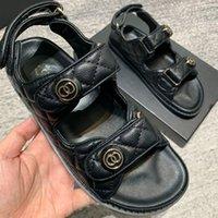 Bonjean Luxo Desinger Shoes Feminino chinelo Marca Real Genuíno Couro Mulheres Sandália Plana Slides Casuais Verão Flip Flops 210302