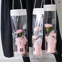 Подарочная обертка 1 шт. Бумажная коробка для бумаги, букет цилиндр, трансы PVC мешок, мини-ведро, цветочный цилиндр, сумки для хранения подарков