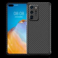 Funda telefónica de fibra de carbono a prueba de golpes ultrafinas de lujo para Huawei P40 Pro Plus Touch suave robusto cubierta duradera