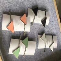 مثلث الخامس الشكل إلكتروني المعادن هيرباند مشط بوبي دبوس باريت دبوس الشعر غطاء الرأس امرأة الأزياء اكسسوارات للشعر 9 ألوان