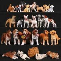 محاكاة الكلب تمثال الفرنسية الملاكم البلدغ الذهبي المسترد الحيوانات الأليفة نموذج عمل أرقام pvc المنزل الديكور التعليمية أطفال اللعب C0220