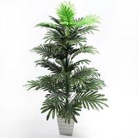 Fiori decorativi GATHONHS 90 cm Palma tropicale Grandi piante artificiali Falso Monstera Foglie di seta Grande cocco senza pentola per la casa Garde