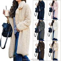 Women's Wool & Blends Woman Faux Fur Winter Coat Women Warm Ladies Teddy Jacket Female Plush Plus Size Outwear