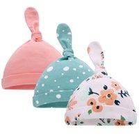 Cappelli per bambini solido Twist Twist Knopd Skull Caps Newborn Fashion Hat Toddler Turban Elastic Beanie NetCant Hat Head Wrap Accessori YL342