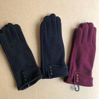 Winter cycling warm fleece is not velvet glove female touch screen dedicated by bike