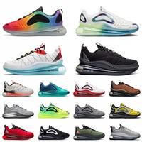 airmax max 720 mx 720 818 Top Quality 2021 Bubble Pack MX 720-818 Coussins Chaussures De Course Pour Hommes Femmes Oreo Accents Jaunes Noir Gris BE True 720s Baskets Baskets