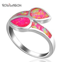 Cluster Rings ROLILASON Party Gifts ! Cute Design Purple Fire Opal Silver Plated Stamp Fashion Jewelry USA Size #6.5 #6.75 #7.75 OR430