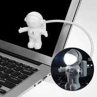 가제트 USB 부품 크리 에이 티브 Spaceman 우주 비행사 어린이 장난감 노트북 PC에 대 한 유연한 라이트 밤 Led