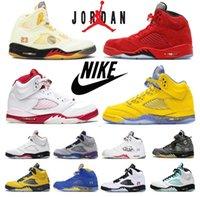 air jordan jordans jordon jordons aj retro Men Jumpman 5 scarpe da basket a vela antincendio rosso verde 5s Oregon anatre alternate uva mens sneakers 40-46
