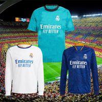2021 Real Madrid Futebol Jerseys 21 22 Benzema Kroos Alaba Camiseta de Futol 2022 Asensio Maillot Hazard Modric Casemin Lucas V. Futebol Camisa Uniforme