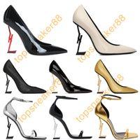 Mulheres Dress Shoes Paris Luxurys Designers Red Bottle High-Heeled Gold Black Golden Golden 10cm saltos sapato