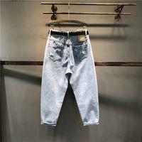 Jeans casual mumuzi magro outono verão gato stretch trousers mulheres calças azuis cartoon elástico x0wv