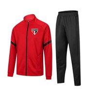 2021 2022 São Paulo FC football Tracksuits Home Uniform Kids Soccer Jersey Winter Suits Height 120cm 130cm Men Warm Set Size S to XL
