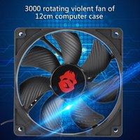12 cm 4 Pin Yüksek Hızlı Masaüstü Şasi Fan 12 V Büyük Hava Hacmi Bilgisayar Soğutucu Klasik PC Dizüstü Malzemeleri Accessaries Fanlar Soğutma