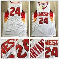 أعلى أصيلة مخيط 2009 All-Star Jersey Mitchell Ness Hardwoods Classics 2003 2004 All Star Swingman كرة السلة الفانيلة