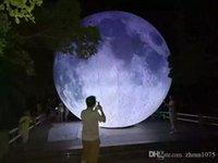 (Специальный магазин) Надувная лунная шарика искусственная луна симуляции Луна включала светодиод, воздушный насос, использование для большой вечеринки, фестиваль Cramea
