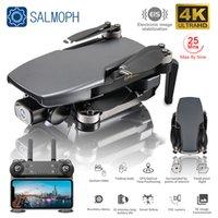 Salmof SG108 GPS Drone ile 5G WiFi FPV 4 K HD Çift Kamera Fırçasız Optik Akış RC Quadcopter Takip Et Mini Dron vs L108 EX5 Y0302