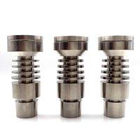 Nail de titane mâle universel de qualité supérieure Domeless 4 sur 1 14 mm 18mm 18mm Dual fonction GR2 pour narguilé à huile de cire Pipe d'eau Vaporisateur DAB Plateaux DAB