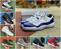 Novo Jubileu Pantone Criado 11 11s Basquete Sapatos Meia-noite Marinho Navio Jam Gama Azul Easter Concord 45 Baixo Columbia Branco Sapatilhas Vermelhas B22