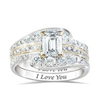 Wedding Rings 3pcs set Exquisite Fashion Set Bride Ring For Women Jewelry