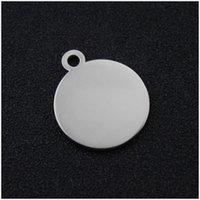 Círculo de estampado de acero inoxidable de 16 mm Encanto para la joyería Metal Stamping Blanks Etiquetas redondas Perro Personalized Wholesale 200pcs 316 T2
