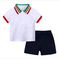 Summer Baby Boys Clothes Sets Toddler POLO T-Shirt +Shorts 2pcs Baby Tracksuit Boys Suit for Kid Clothing