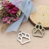 100 stücke Charms Hund Bärenpfote 19 * 17mm Antike Machen Anhänger Fit, Vintage Tibetische Silber, DIY Armband Halskette 441 T2