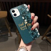 Luxury Phone Case for Iphone 12 Case 12promax Flower Pattern New Product High Quality Mobile Phone Shell Silk Case Phone Bulk 97276