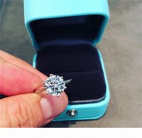 Solitaire Lab Diamond Promise Anello Set 100% Real 925 Sterling Sterling Engagement Banda di nozze anelli per le donne gioielli da sposa Y1124