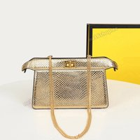 Chaîne 1 sac à bandoulière PEEKABOO Cuir Mini Sac à main Femme Femme Crossbody Porte-monnaie de luxe 20.5x8.5x13.5cm