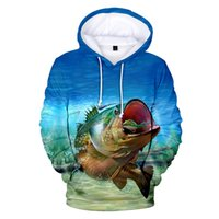 New Fashion 3D fish Hoodies Men Women New Print Boys Girls Sweatshirt Children Casual Kids Autumn Fish Sweaters 4XL