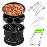 Pfannen 12 teile / satz Luft Fritteuse Zubehör Bratpfanne Backen Korb Pizza Platte Grill Pot Matte Küche Barbecue Tool