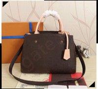 Designer di lussurys borse borse borse montinge borsa donne tote marca lettera goffratura in vera pelle borse a tracolla crossbody womenbag satchel N41056