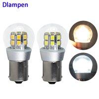 電球Lampada S25 1156 BA15S 1157 Bay15D Py21W Canbus LEDの内部ライト4W DC 6V 12V 24Vオートターン信号オートバイの省エネ