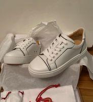 Perfeito Designer Vieiríssima Redonda Toe Red Bottom Sneakers Platfrom Trainer Sapatos Conforto Feminino Casual apartamentos vestido casamento casamento